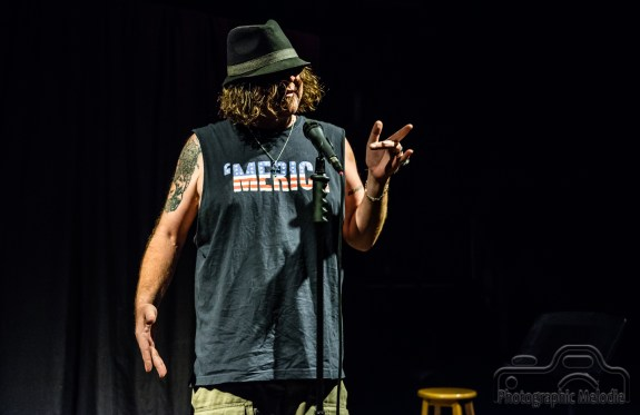 Indianapolis Poetry Slam hosted by Dante Fratturo featuring Michael Baumann at the Irving Theater in Indianapolis, Indiana on August 16, 2018