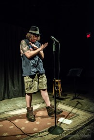 Indianapolis Poetry Slam hosted by Dante Fratturo at the Irving Theater in Indianapolis, Indiana on August 16, 2018