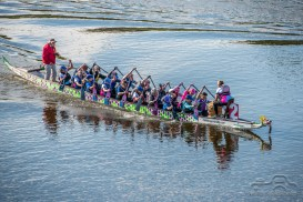 The inaugural Dragon Boat Race was an exciting event for participants and supporters alike along the White River on September 29, 2018