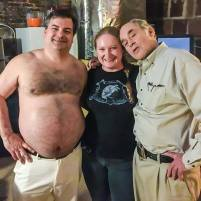 Melodie with Randy and Mr. Lahey from Trailer Park Boys at the Lafayette Theater on February 24, 2017. Photo Courtesy of Neil Snyder