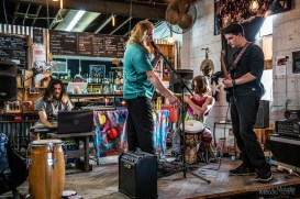 Many talented artists poured their hearts out on stage during the phenomenal Discovery Open Mic at Coal Yard Coffee on Saturday, April 6, 2019. Photo cred Melodie Yvonne