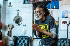 Poetry at the Yard celebrated National Poetry Month with a special feature performance from Chicago legend and poet, Billy Tuggle, along with an amazing all ages open mic on Monday, April 15, 2019. Photo cred Melodie Yvonne