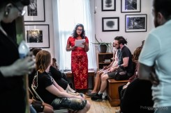 HOT SLAM: A Night of Sensual Poetry and Radical Conversation was a phenomenal evening presented by Ariane Cyusa featuring Mariah Price, Nasreen Khan, Sylvia Thomas, and Daemyn Edward Hamilton at the Photographic Melodie Gallery on Friday, May 17, 2019. Photo cred Melodie Yvonne