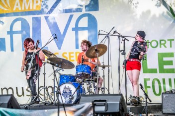 Gangstagrass & The Accidentals created an exciting evening chocked full of enlivening melodies during the Levitt AMP Galva Music Series at Wiley Park in Galva, Illinois on Sunday, July 28, 2019. Photo cred Melodie Yvonne