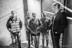 Abercorn spends time hanging in Fountain Square for a promo shoot before their show at the HiFi on Wednesday, December 4, 2019. Photo cred Melodie Yvonne