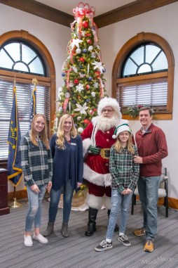 Family portrait session at City Hall in North Vernon, Indiana on Saturday, December 14, 2019. Photo cred Melodie Yvonne