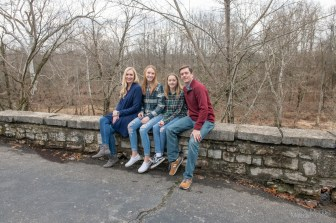 Family portrait session at Muscatatuck Park in North Vernon, Indiana on Saturday, December 14, 2019. Photo cred Melodie Yvonne