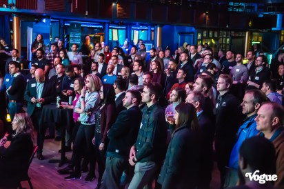 Powderkeg Pitch Night was an exciting evening with a killer lineup of innovators, leaders, and tech pioneers at The Vogue Theatre on Thursday, February 27, 2020. Photo cred Melodie Yvonne