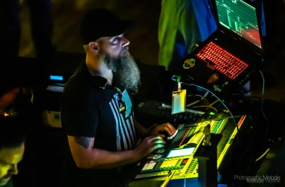 Brian Tschuor works as production manager and lighting technician for The Vogue Theatre in Indianapolis, Indiana. Photo cred Melodie Yvonne