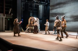 Purdue Theatre's production of Mother Courage and Her Children is an extraordinary saga interpreted by a talented cast that sheds much needed light on economic and social injustice. Show will livestream April 16 from the from the Nancy T. Hansen Theatre, and follow with multiple Digital Performances through April 18, 2021. Photo cred Melodie Yvonne