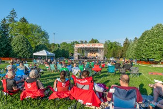 Holliday Park & The Vogue Theater kicked off their Summer Concert Series 2021 with a phenomenal show featuring Huckleberry Funk and Allison Victoria on Saturday, May 22, 2021. Photo cred Melodie Yvonne