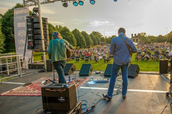 Brett Dennen delivered a beautiful performance from the Rock the Ruins stage at Holliday Park on Friday, July 9, 2021. Photo cred Melodie Yvonne