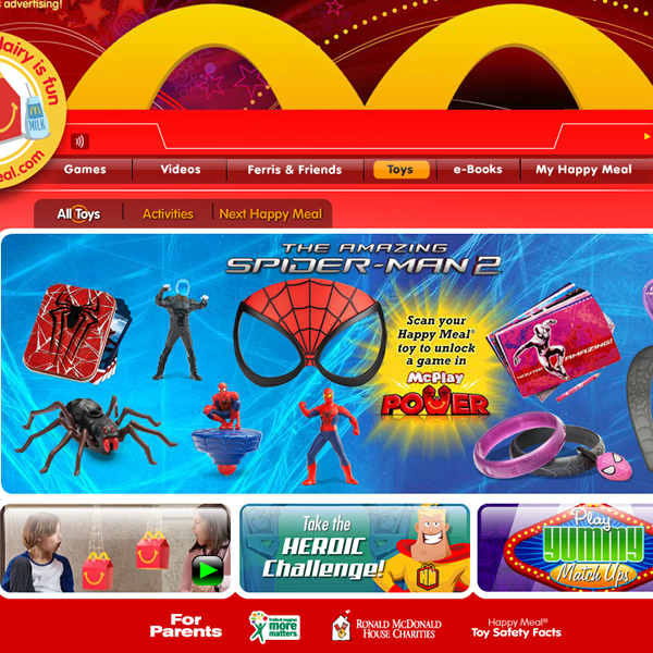 Ella and I talk Spider-Man 2 McDonalds Toys on GeekMom  *Video*