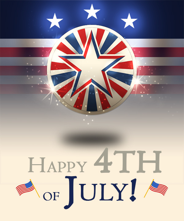4th of July Design - 123RF Tutorial