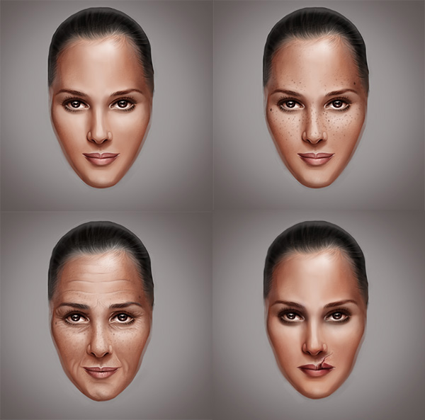 How to Paint Skin Realistically, Scars, Freckles, and Wrinkles