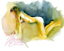 Watercolor figure painting by Melody Owens