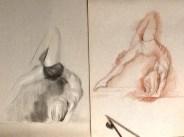 beautiful yoga pose sketches figure study drawing