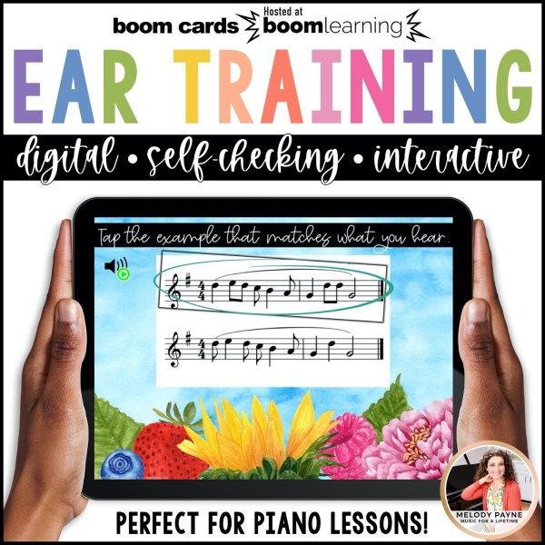BOOM Cards: Ear Training with Ties & Syncopation by Melody Payne