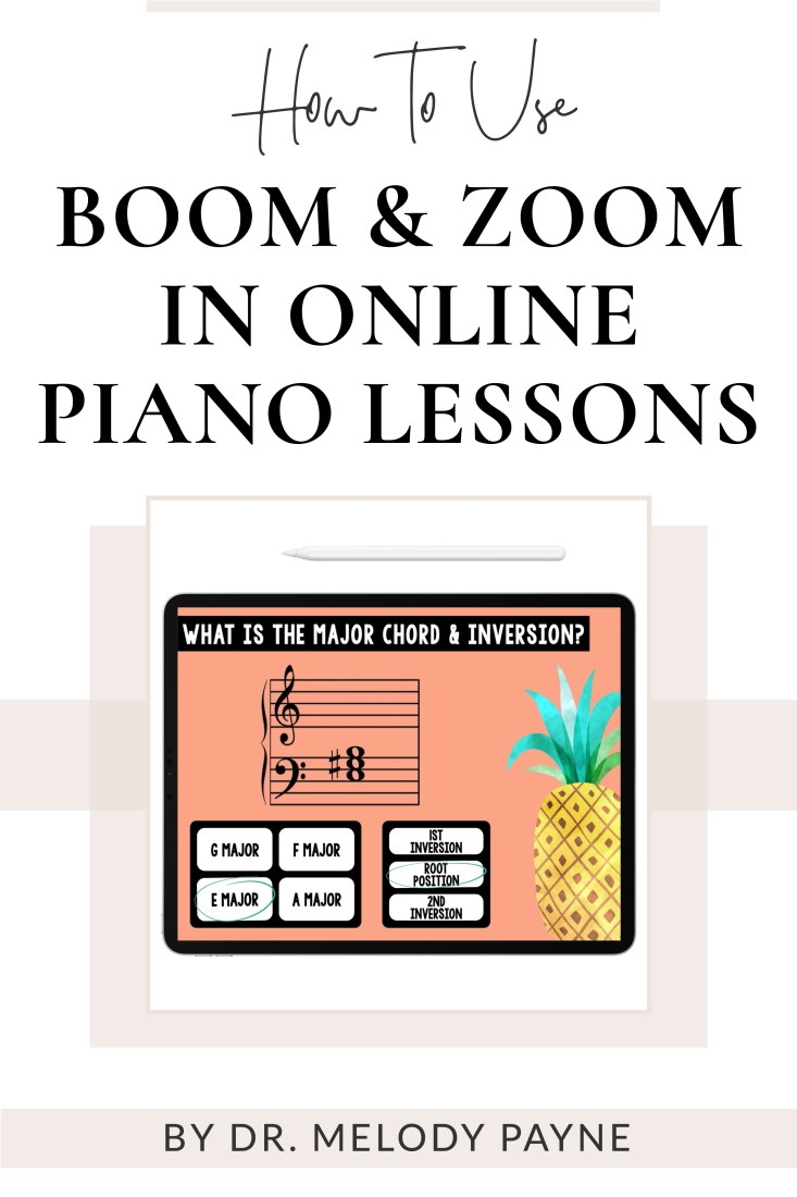 How to Use Boom & Zoom in Online Piano Lessons by Melody Payne