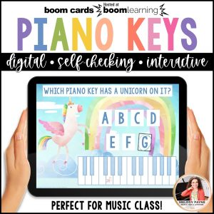 BOOM Cards: White Piano Keys
