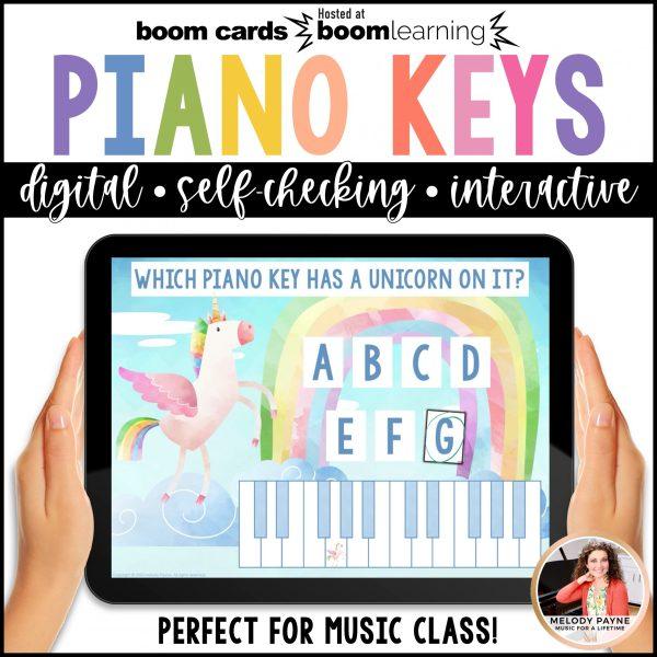 BOOM Cards: White Piano Keys