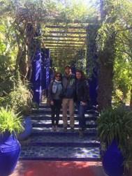 Visiting Yves St Laurent's garden.