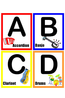 Musical Alphabet in COLOR! = better letters!