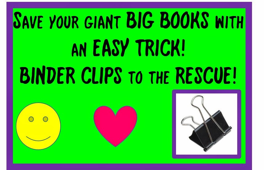 Music Teacher Hack – How to save your Giant BIG BOOKS with one easytrick!