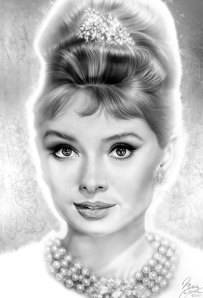 Painting of Audrey Hepburn by Melody Owens