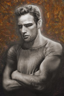 Rusted Young Brando Painting by Melody Owens