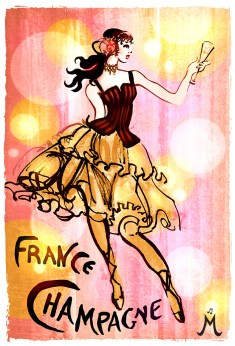 """French Champagne"" 11""x14"" $55 on watercolor paper >>"