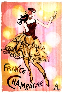 """""""French Champagne"""" 11""""x14"""" $55 on watercolor paper >>"""