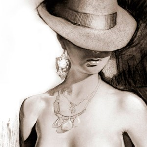 """""""keep your hat on"""" Painting by Melody Owens"""