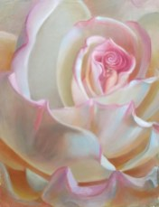 Melody Owen Center of Love Rose oil painting