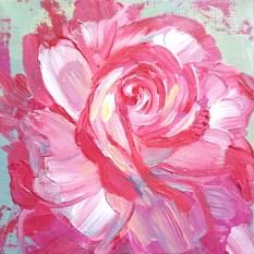 Rainbow Rose Painting