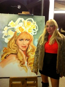Live painting, portrait painting by Melody Owens