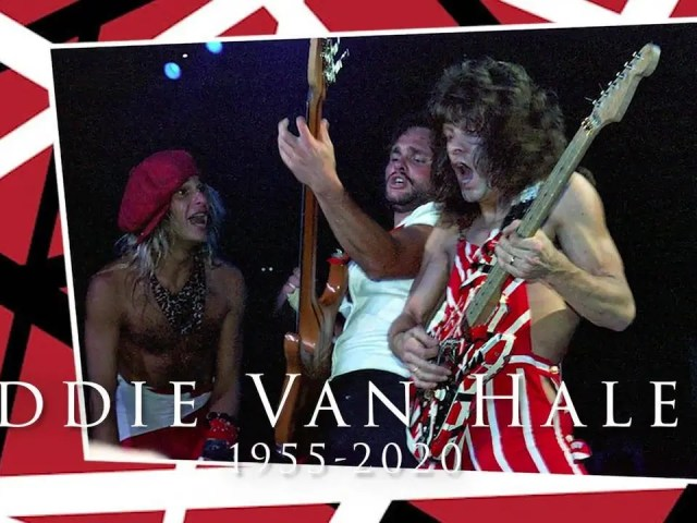 So sorry to hear of Eddie Van Halen's crossing over yesterday, October 6th.