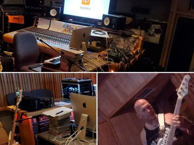 I just got to listen to the finished track I played on at a recent recording studio session.