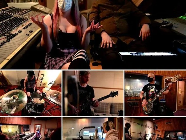 """Check out our new bts video with our producer, 'E' during the recording session for the @werenogentlemen cover version of """"Vicious Love"""", the New Found Glory song featuring Hayley Williams of Paramore."""
