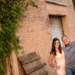 downtown Conroe engagement session photographer