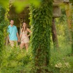 spring engagement session in Conroe, Texas