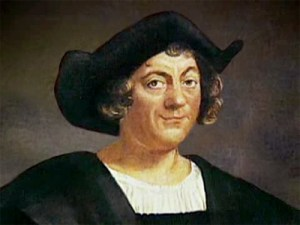 A painting of Christopher Columbus, looking smug.