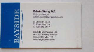 Edwin Wong Bayside Business Card