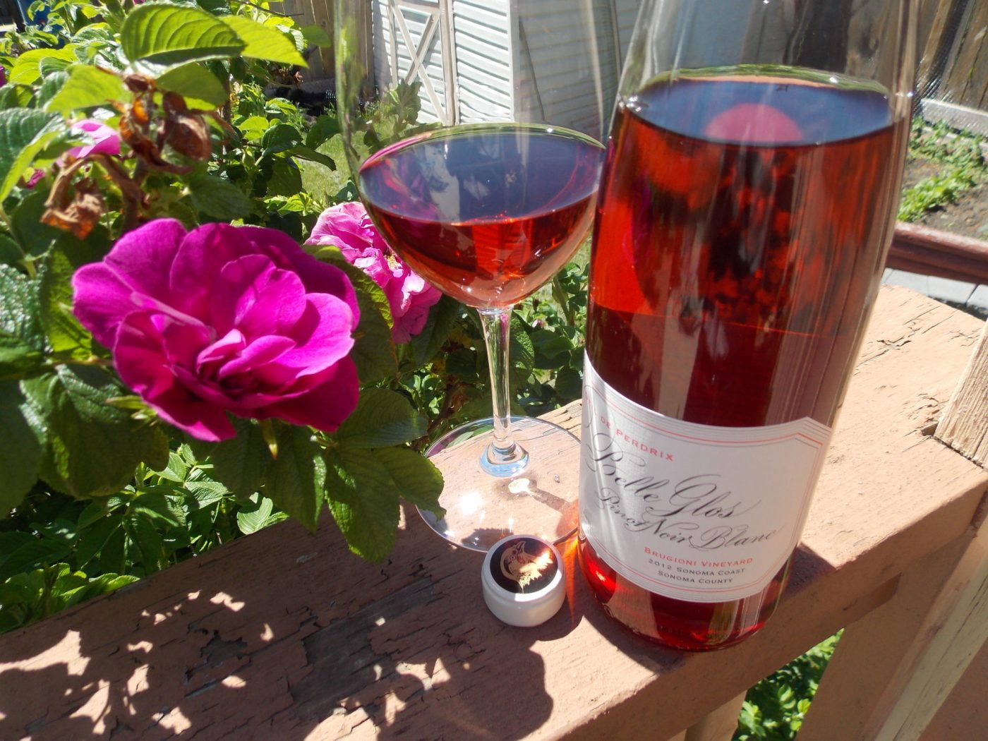 writing about rose pink wine in the spring
