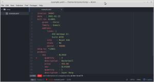 YAML linter screenshot showing a helpful error message