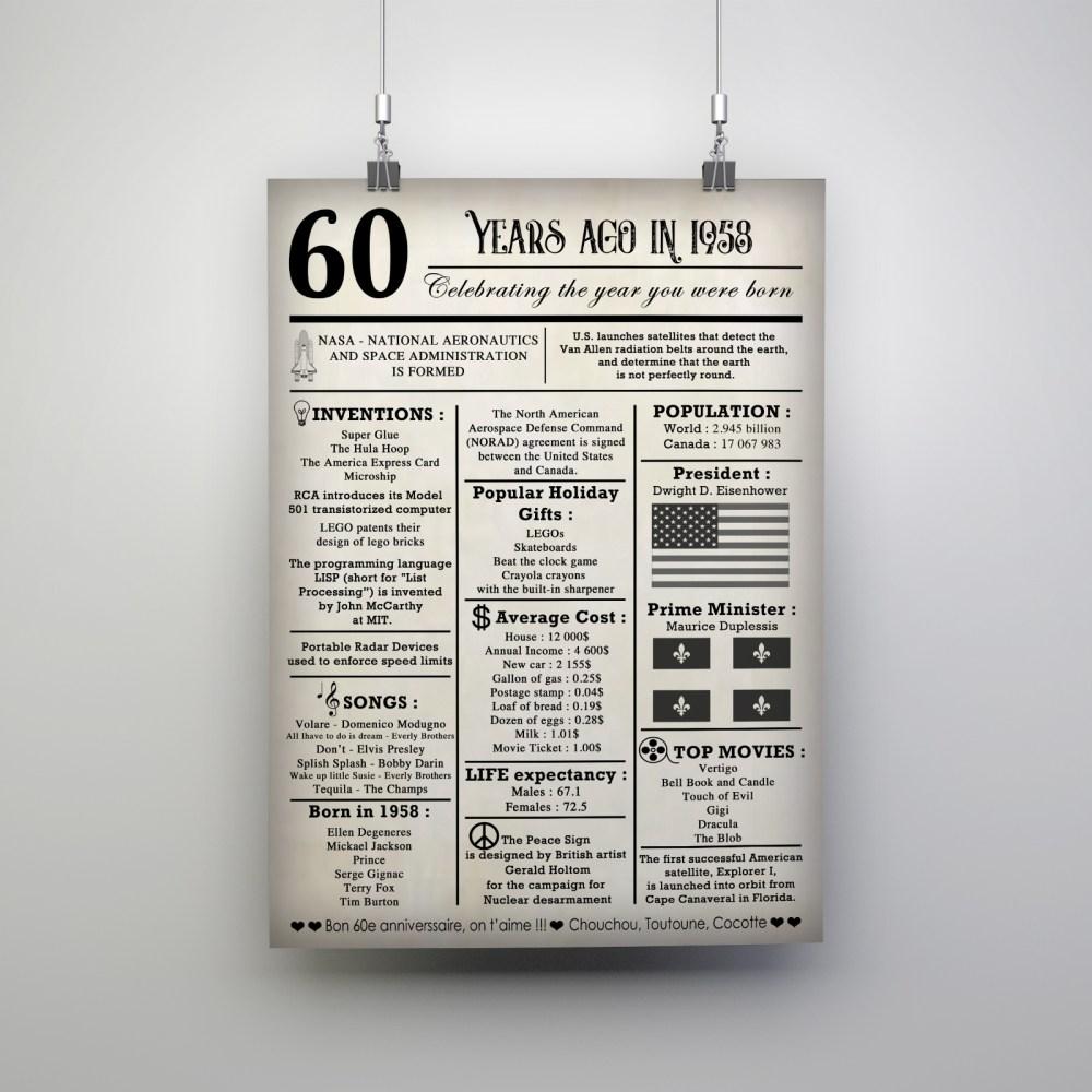 Poster 60e anniversaire
