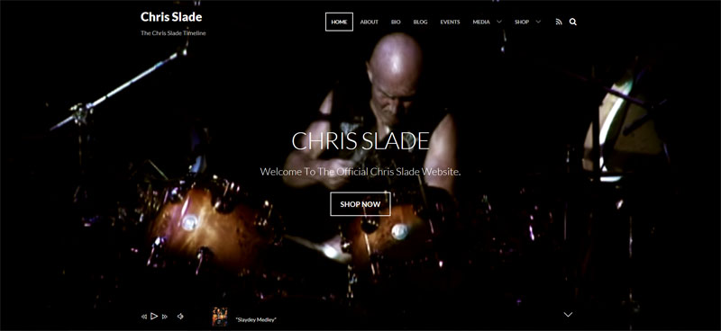 """The new homepage looks FANTASTIC""   -   Chris Slade"