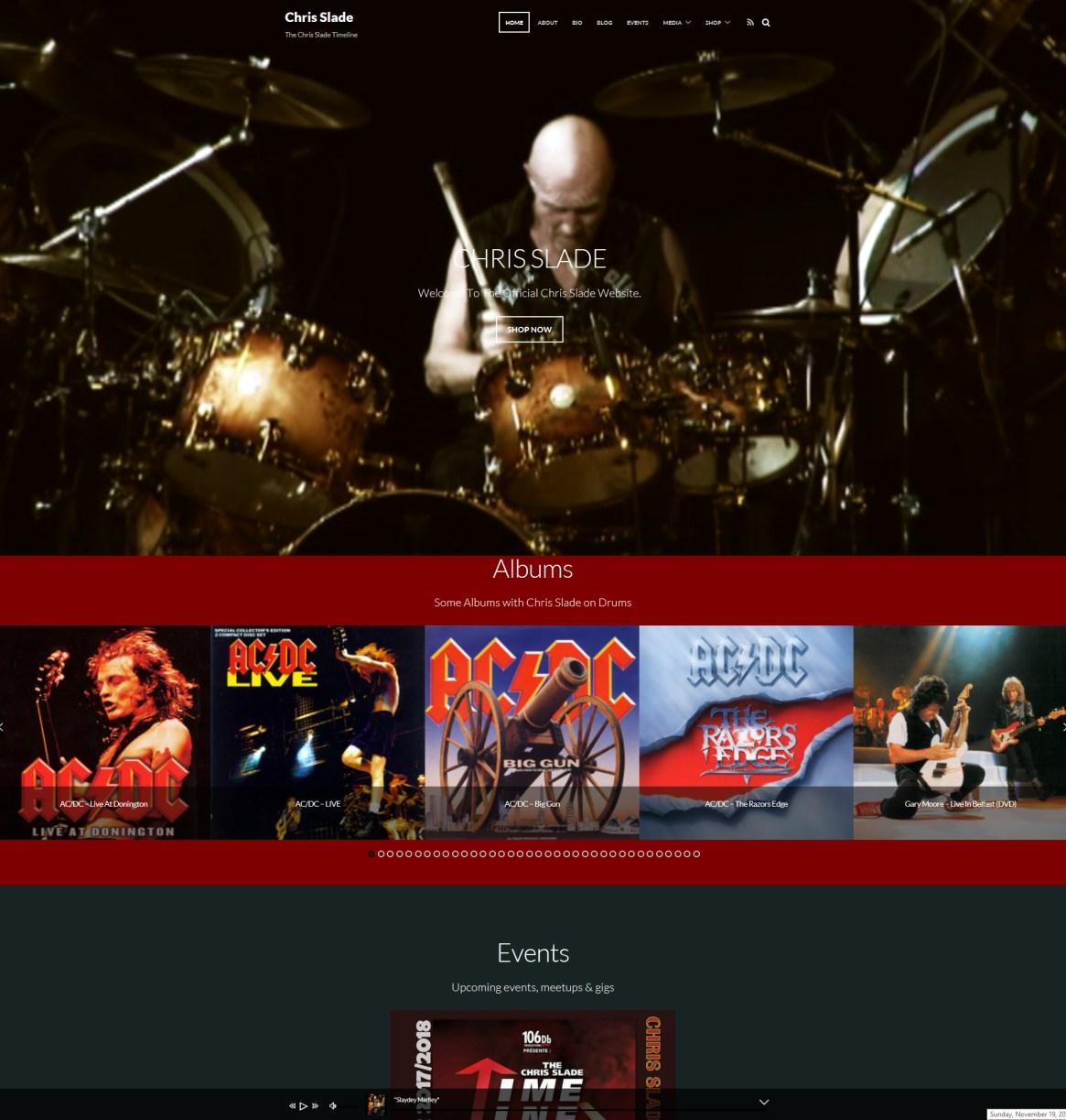 """The new homepage looks FANTASTIC""   -   Chris Slade"