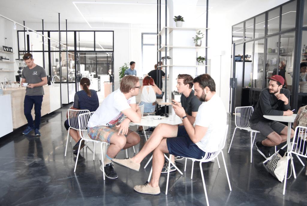 Your walking guide to specialty coffee in Berlin Kreuzberg part 2_the visit_coffee drinkers