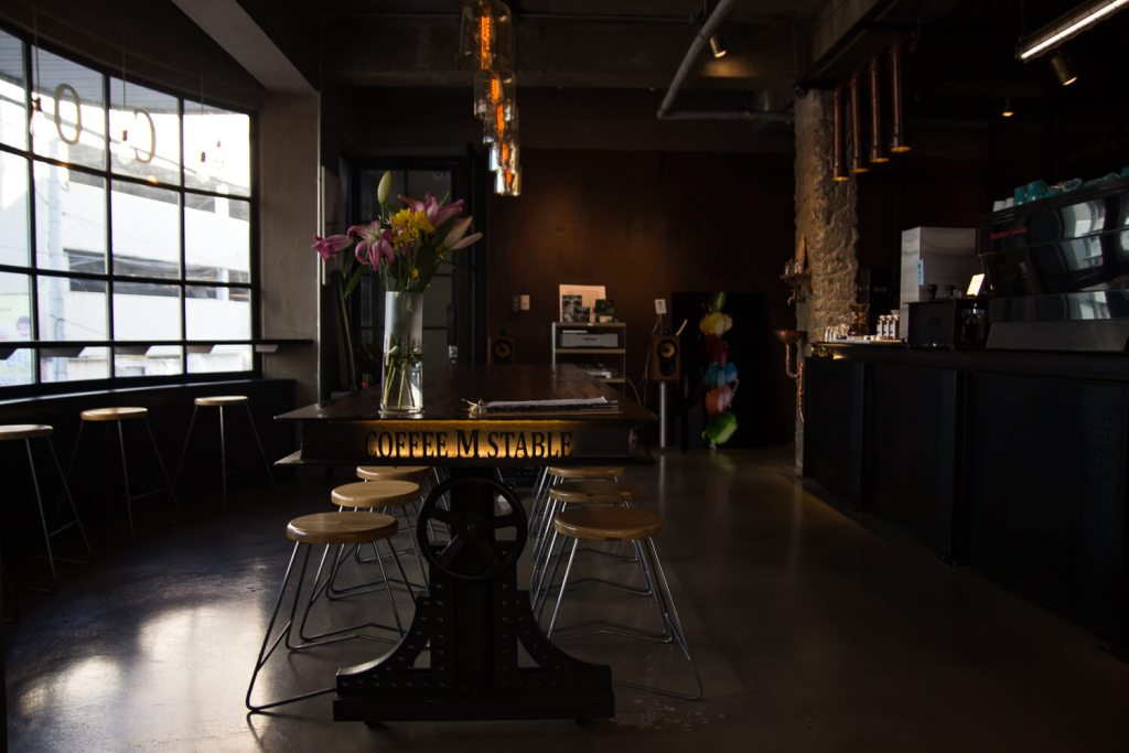 Specialty Coffee in Seoul_coffee m stable_table view